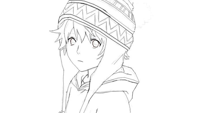 Как нарисовать юкине из бездомный бог поэтапно 148