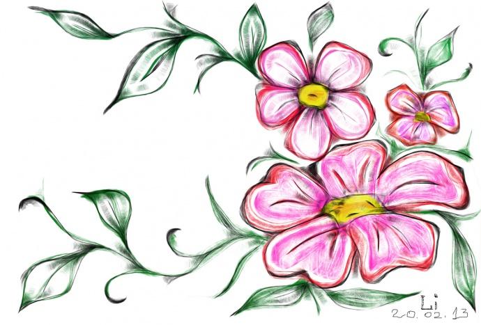 Простые рисунки цветочки