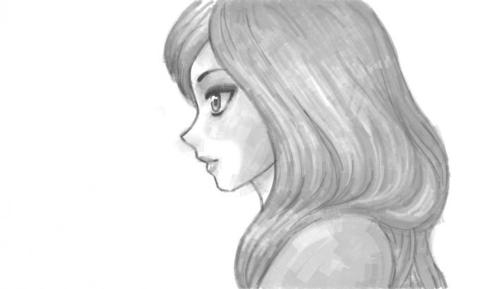 фото рисунок девушка