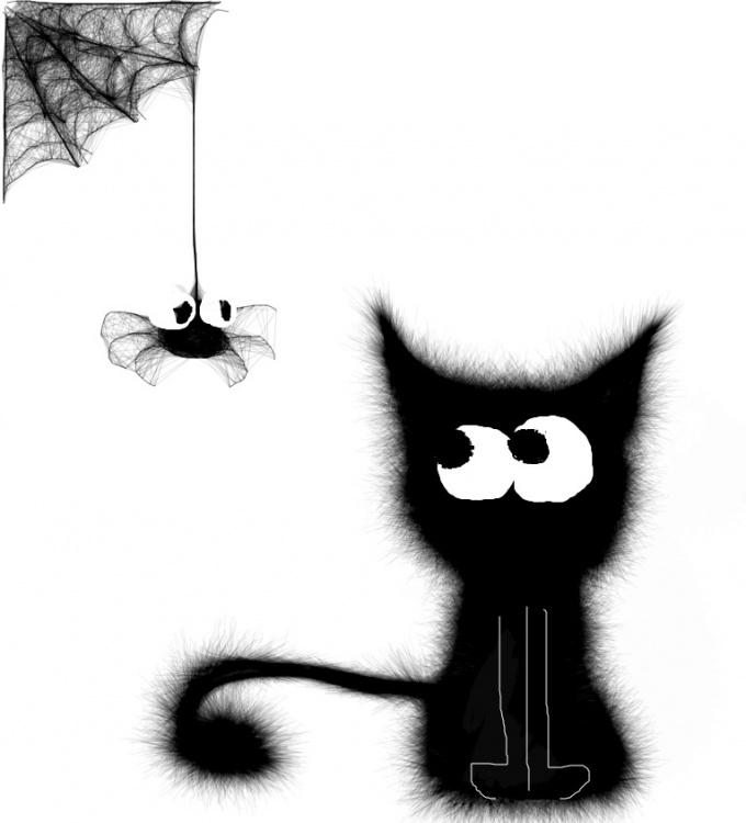 паук рисунок: