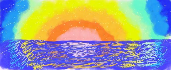 Как нарисовать рассвет своими