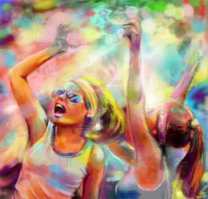 Танец буйных красок
